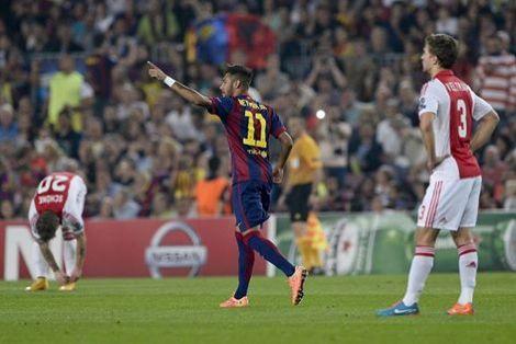 برشلونة يستعد للكلاسيكو بثلاثية في شباك أياكس امستردام