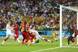 أهداف غانا وألمانيا