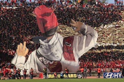 طرابيش حمراء وتيفو ضخم في احتفالات الوداد باللقب أمام الـ OCK