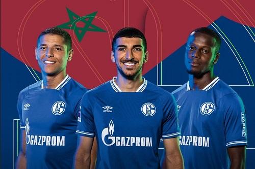 """رقم أسود لشالكه الألماني بالثلاثي المغربي في """"البوندسليغا"""""""