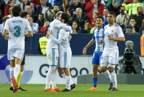 ريال مدريد يجتاز ملقا بثنائية ويستعيد المركز الثالث بالدوري الإسباني
