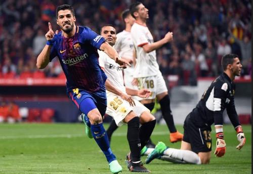 برشلونة يكتسح إشبيلية ويتوج بكأس ملك إسبانيا للمرة الثلاثين في تاريخه