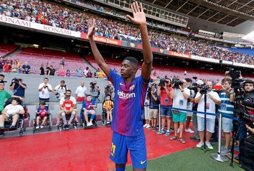 برشلونة يُعلن عودة عثمان ديمبلي لتداريب الفريق بعد ثلاثة أشهر ونصف من الغياب