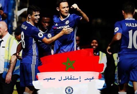تشيلسي يهنئ المغاربة بذكرى عيد الاستقلال