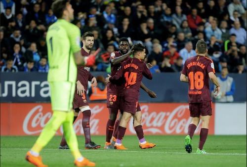 في غياب ميسي.. برشلونة يعبر ملقا بسهولة ويعزز صدارته للدوري الإسباني