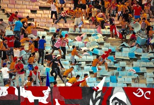 """إيقاف مباراة في كأس تونس بسبب شغب الجماهير وانعدام الأمن بملعب """"رادس"""""""