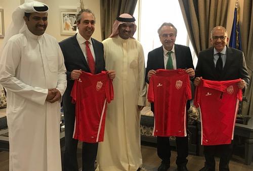 رئيس الاتحاد البحريني يُخفِي موقِفَه من دعم الملف الثّلاثي ويَعتذِر لهسبورت عن التّوضيح