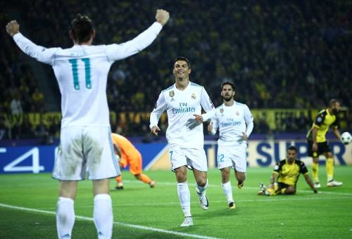 رونالدو يقود الريال لفوز تاريخي على ملعب دورتموند في دوري الأبطال