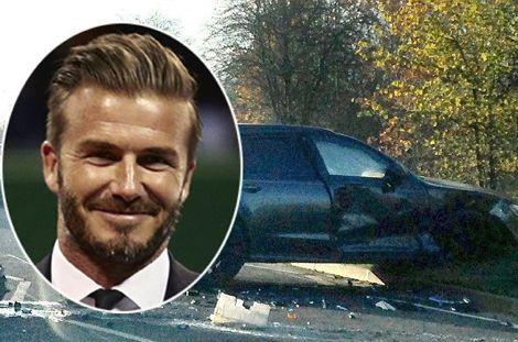 ديفيد بيكهام يعرض بيع سيارته المحطمة على الإنترنت بنصف ثمنها