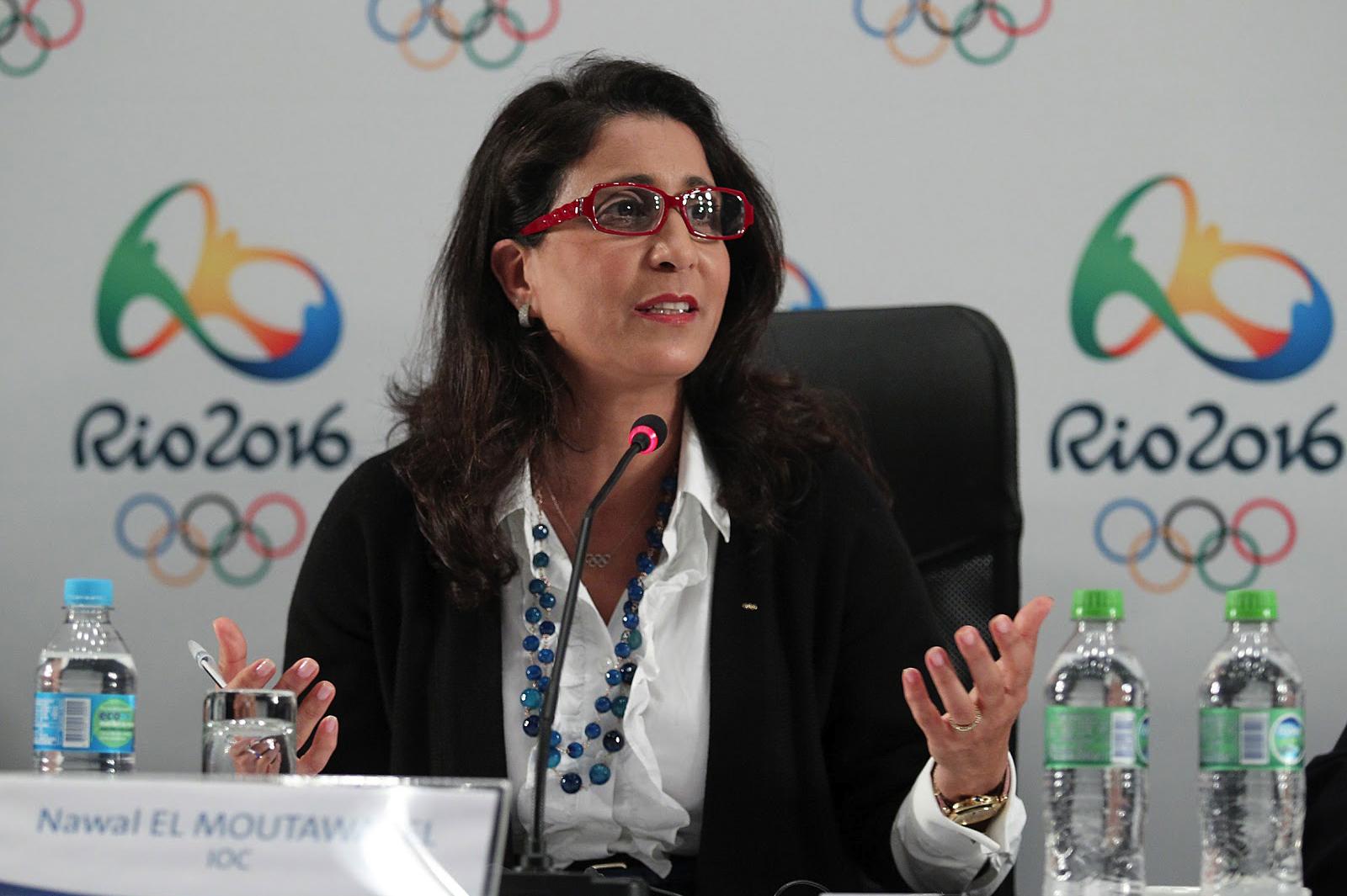 نوال المتوكل والأردني فيصل بن الحسين في اللجنة التنفيذية للأولمبية الدولية