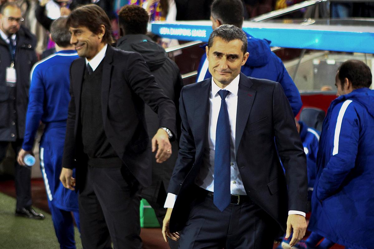 كونتي مدرب إنتر يواجه اختبارًا صعبًا أمام برشلونة الإسباني في دوري أبطال أوروبا