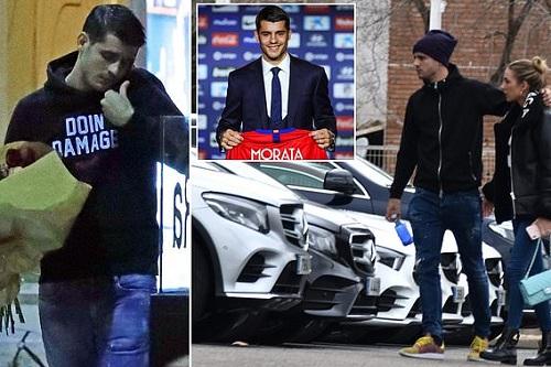 """موراتا يقبل على نسيان """"كابوس"""" تشيلسي بالورود وسيارة في مدريد"""