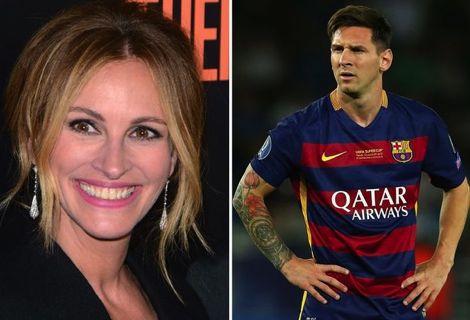 """جوليا روبرتس تكشف عن """"علاقتها"""" بنجم برشلونة ليونيل ميسي"""