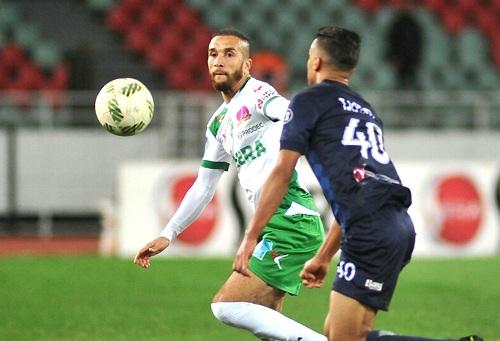 الرجاء يهزم الدفاع الحسني الجديدي ويرتقي للمركز الثاني في البطولة الوطنية