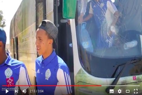ملثمون وداديون يهاجمون حافلة الرجاء
