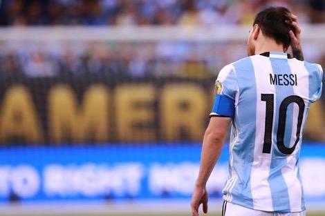 ميسي يعلن اعتزاله اللعب مع المنتخب الأرجنتيني