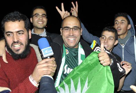 """ليلة """"خضراء"""" بأكادير وشغب يرافق الاحتفالات بفوز الرجاء"""