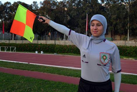 كريمة خاضري.. أول حكم محجبة مغربية في تاريخ التحكيم المغربي
