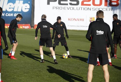 برشلونة يعود للتدريبات الجماعية في غياب الدوليين