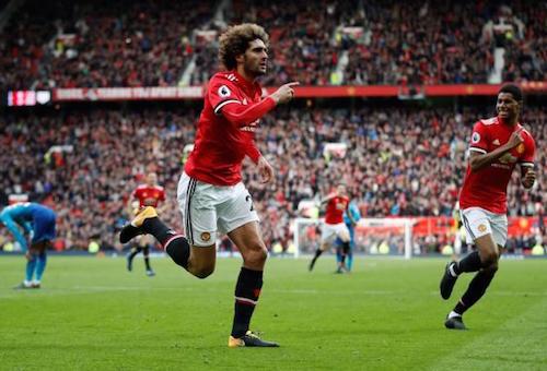 فيلايني يقود مانشسر يونايتد لتحقيق فوز قاتل على الآرسنال في الدوري الإنجليزي