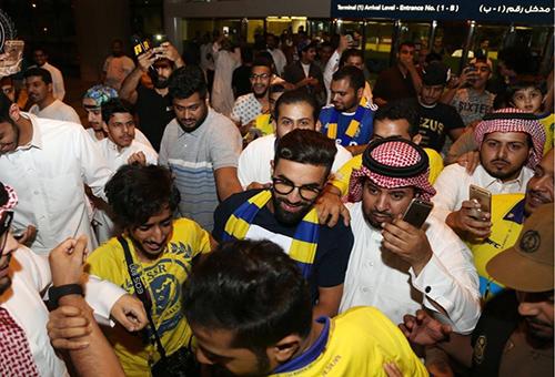 فوزير يشكر جماهير النصر على حفاوة الاستقبال
