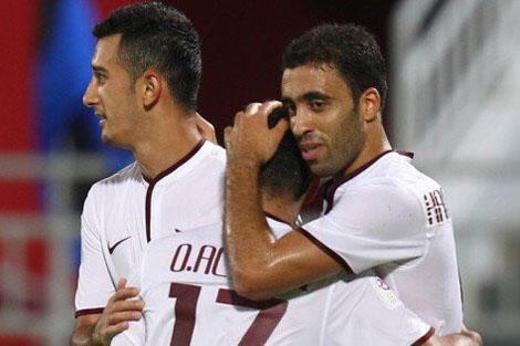 حمد الله يهدي فريقه كأس قطر