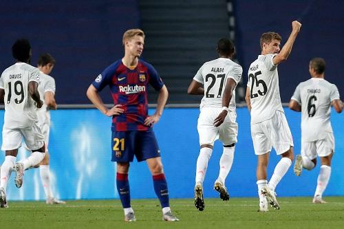 بايرن ميونخ يقسو على برشلونة 8 / 2 ويصعد لقبل نهائي دوري أبطال أوروبا