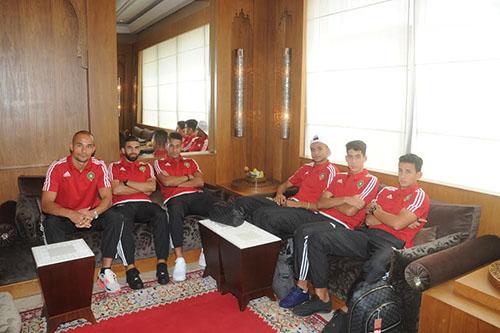 بعثة المنتخب الوطني تغادر المغرب في اتجاه ألبانيا