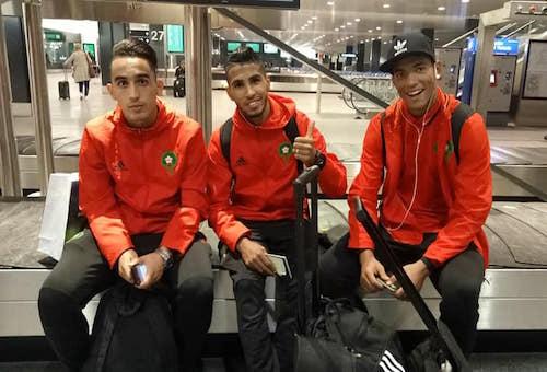 بالصور: المنتخب الوطني يصل إلى سويسرا