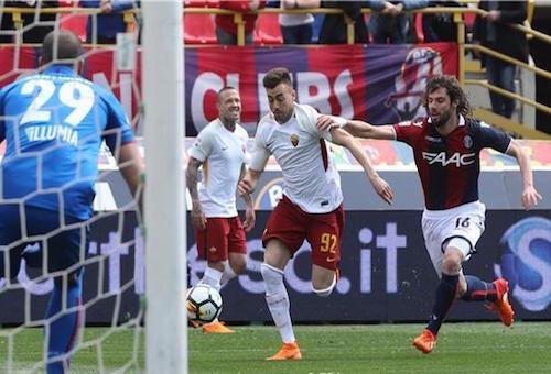 روما يتعادل مع بولونيا قبل موقعة برشلونة