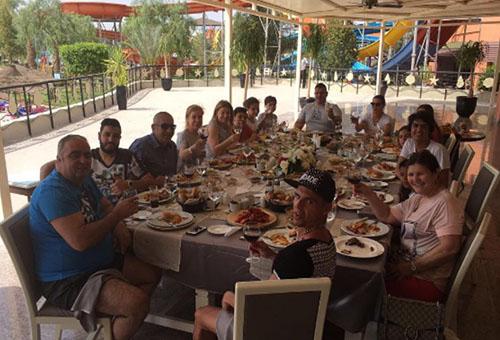 عائلة كرستيانو رونالدو تواصل الاستمتاع بعطلتها في مدينة مراكش