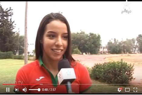 مع أصغر مغربية في الأولمبياد