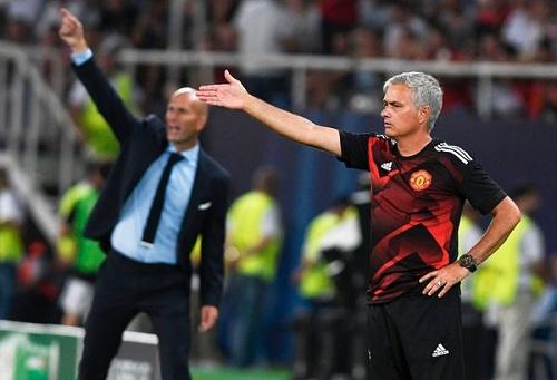 تقارير: مانشستر يونايتد يستبعد فكرة إقالة مورينيو وتعويضه بزيدان