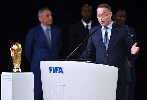 """لقجع: أتمنّى النجاح للملف """"الأمريكي"""".. المغرب سيتسمر في حلم تنظيم """"المونديال"""" مستقبلًا"""