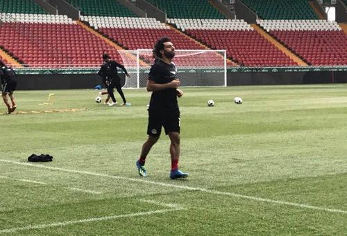صلاح يتدرب بشكل منفرد مع منتخب مصر في غروزني استعدادا للمونديال
