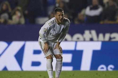 هازارد يغيب مدة طويلة عن ريال مدريد
