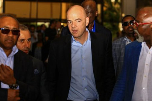 """إنفانتينو يصل القاهرة لحضور اجتماعات """"كاف"""""""