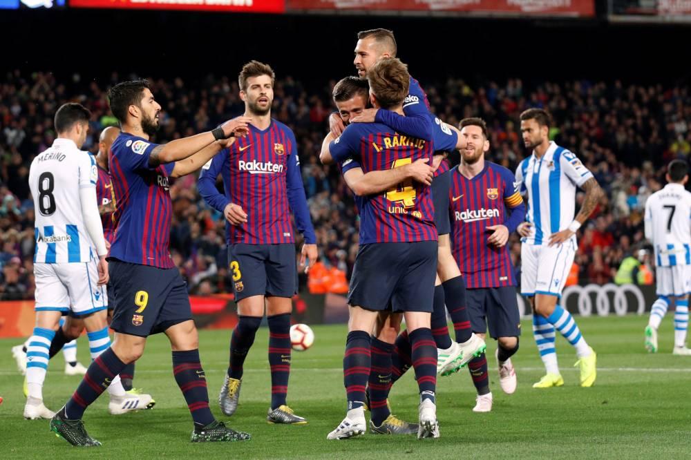 برشلونة يهزم ريال سوسيداد ويقترب خطوة أخرى نحو التتويج بلقب الدوري الإسباني