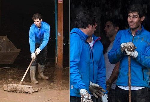 """رافاييل نادال """"الماتادور"""" الإنساني.. ترك مِضربه ونجُوميته أمام فيضَانات """"مايوركا"""""""
