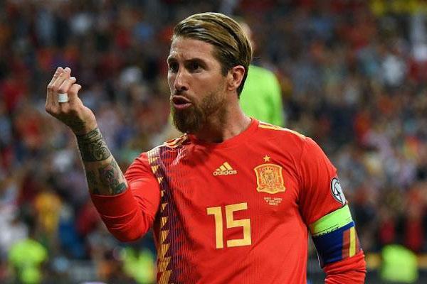 راموس: أشعر بسعادة كبيرة كلما ارتديت قميص إسبانيا