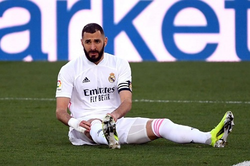 كريم بنزيما يغيب عن ريال مدريد أمام أتالانتا