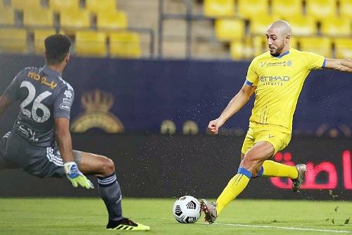 أمرابط يسجل أسرع هدف في الدوري السعودي