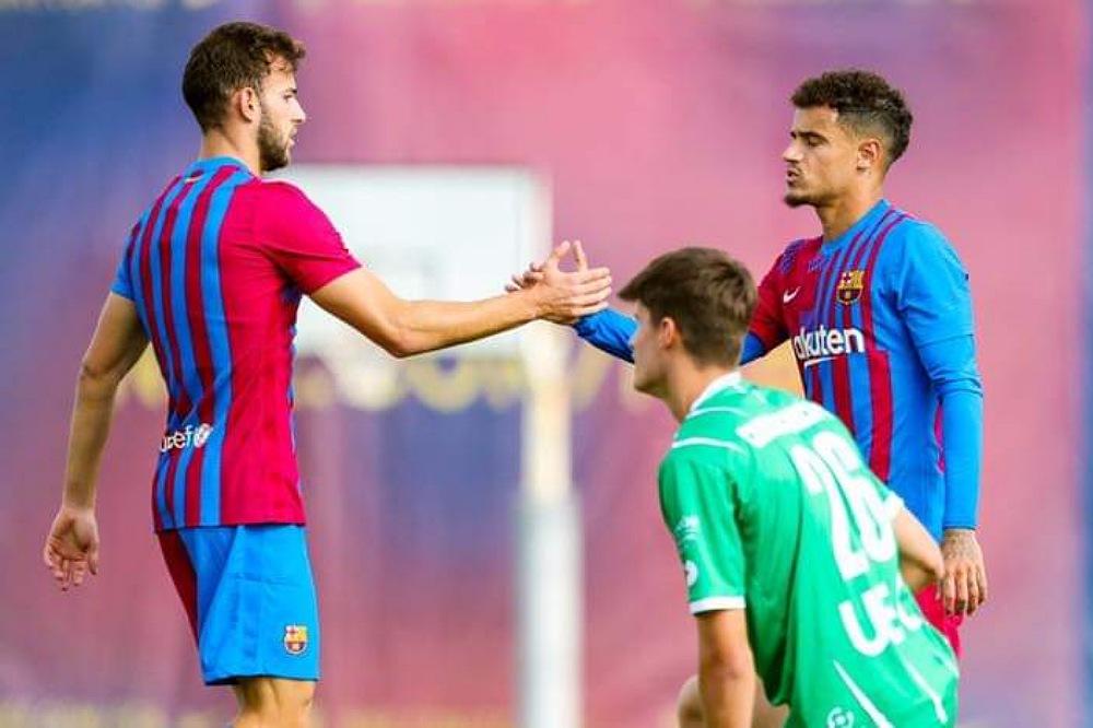 مباراة تدريبية لبرشلونة استعدادا لعودة الليغا