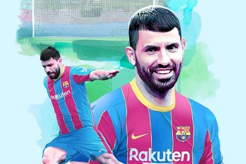 برشلونة يعلن رسميا ضم أغويرو لمدة موسمين