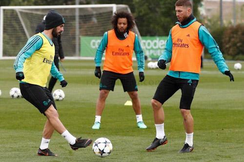 راموس يشارك في مران ريال مدريد استعدادا لليغا