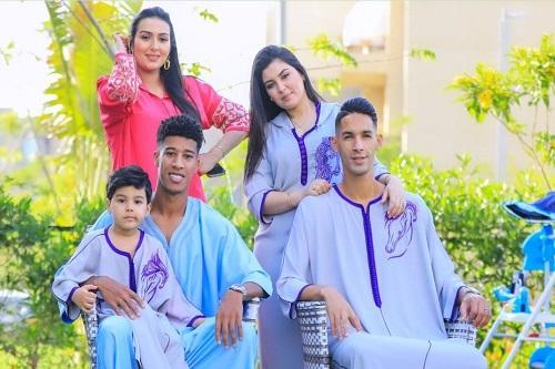 """""""جلباب"""" مغربي في احتفال بانون وأحداد بعيد الفطر"""