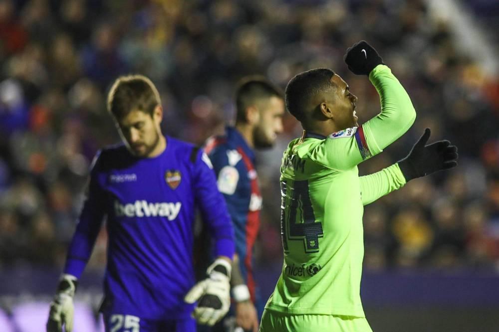 ليفانتي يصعق برشلونة في ذهاب ثمن نهائي كأس ملك إسبانيا