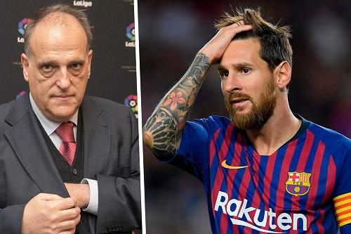 """رئيس رابطة الدوري الإسباني يعتبر أن رحيل ميسي """"لن يكون مأساة"""""""