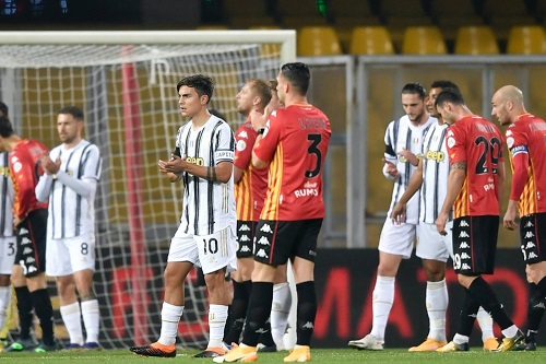 يوفنتوس يسقط في فخ التعادل أمام بينفينتو في الدوري الإيطالي