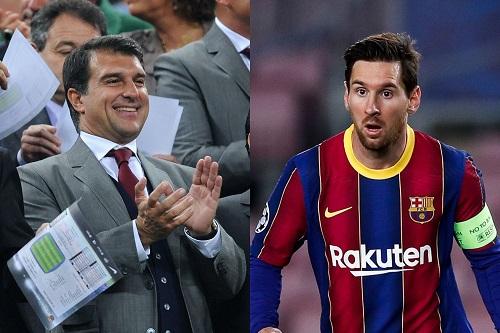 """لابورتا يعتبر أن سان جرمان """"ينتقص من احترام"""" برشلونة في مسألة ميسي"""